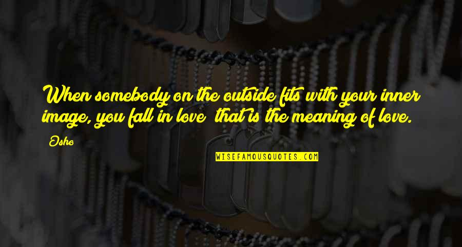 Love With Meaning Quotes By Osho: When somebody on the outside fits with your