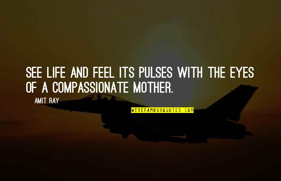 Love With Mother Quotes By Amit Ray: See life and feel its pulses with the