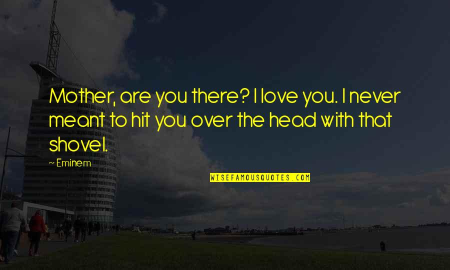Love With Mother Quotes By Eminem: Mother, are you there? I love you. I