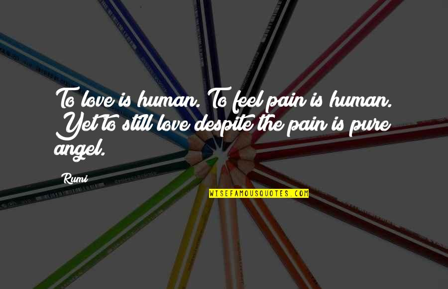Love You Despite Quotes By Rumi: To love is human. To feel pain is