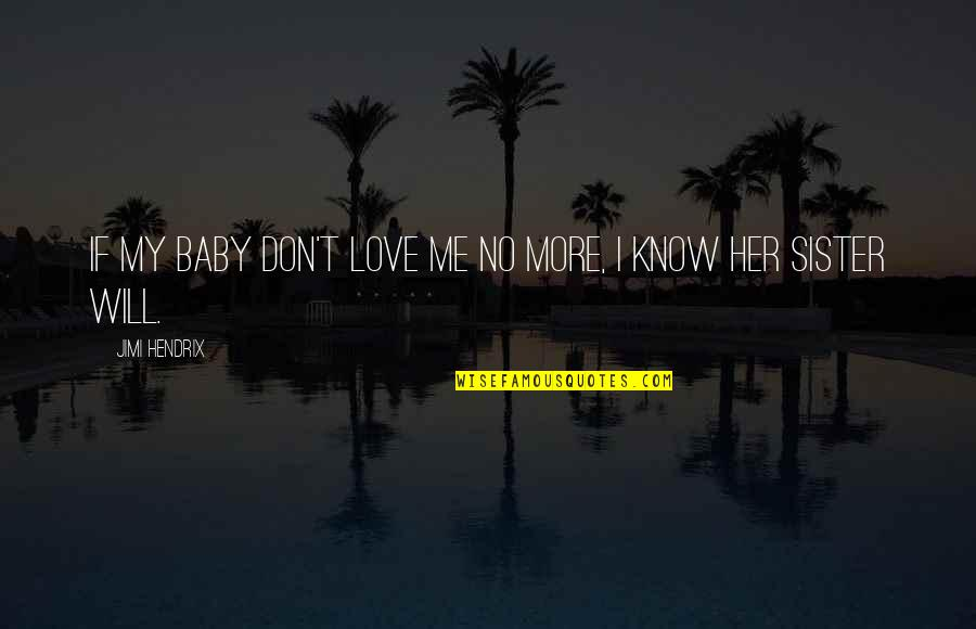 Love Your Sister Quotes By Jimi Hendrix: If my baby don't love me no more,