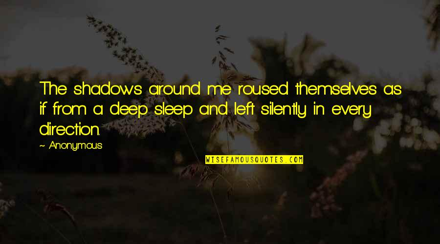 Loving Arms Quotes By Anonymous: The shadows around me roused themselves as if
