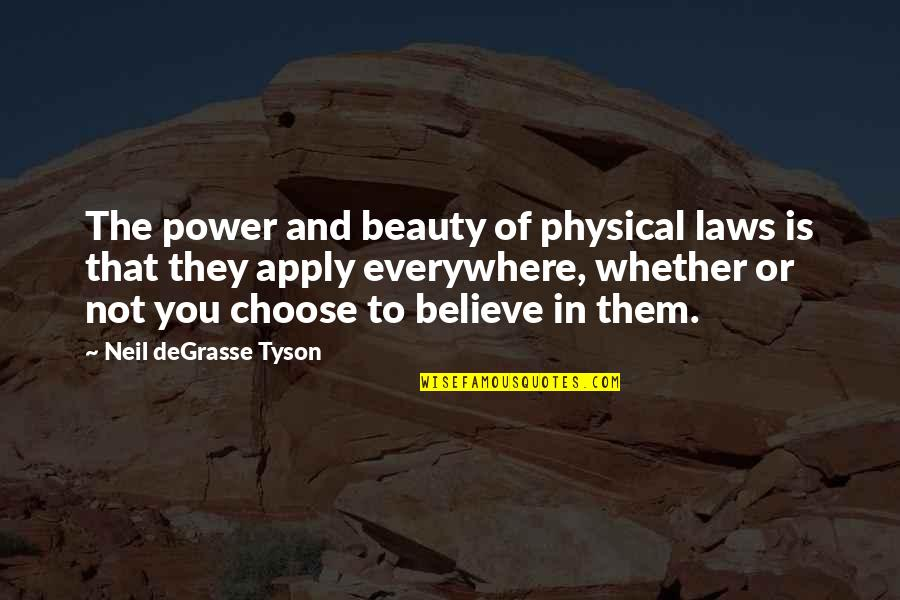 Loving Arms Quotes By Neil DeGrasse Tyson: The power and beauty of physical laws is