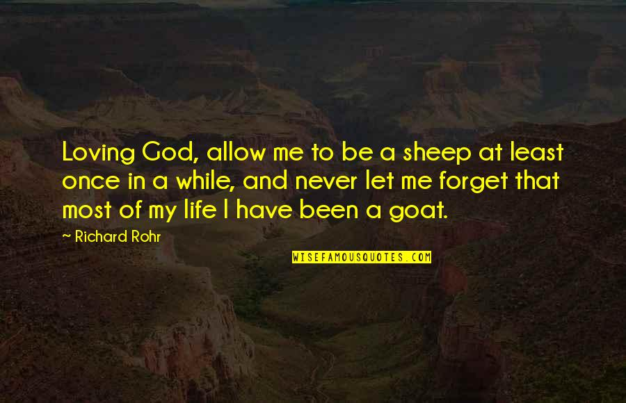 Loving Life And God Quotes By Richard Rohr: Loving God, allow me to be a sheep