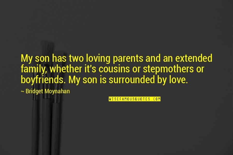 Loving My Cousins Quotes By Bridget Moynahan: My son has two loving parents and an