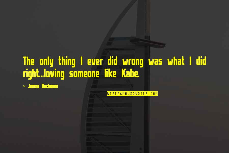 Loving You Is Wrong Quotes By James Buchanan: The only thing I ever did wrong was