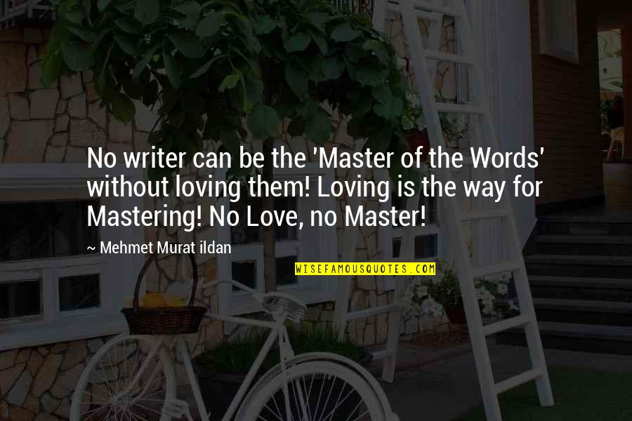 Loving You Just The Way You Are Quotes By Mehmet Murat Ildan: No writer can be the 'Master of the