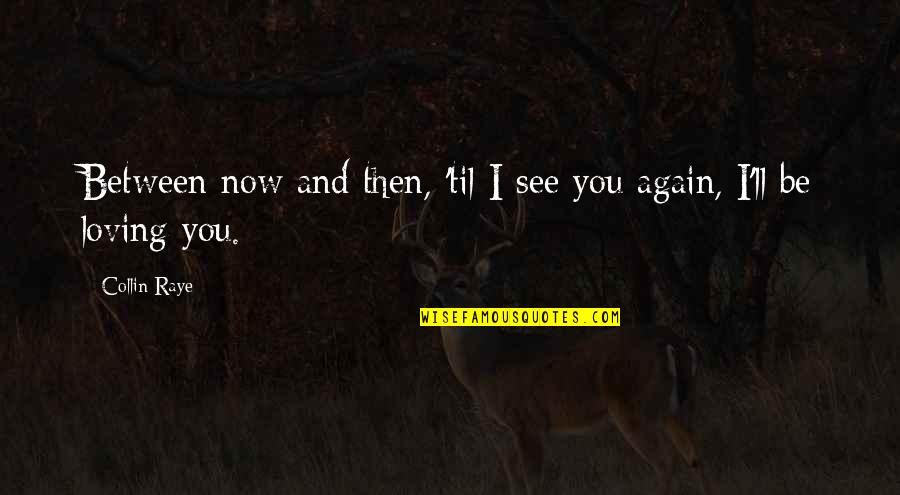 Loving Your Ex Again Quotes By Collin Raye: Between now and then, 'til I see you