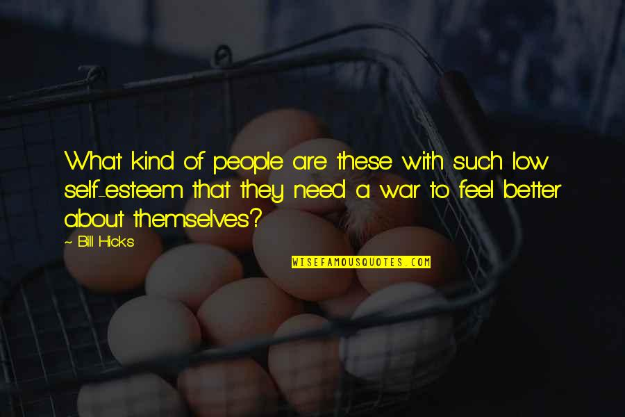 Low Self Quotes By Bill Hicks: What kind of people are these with such