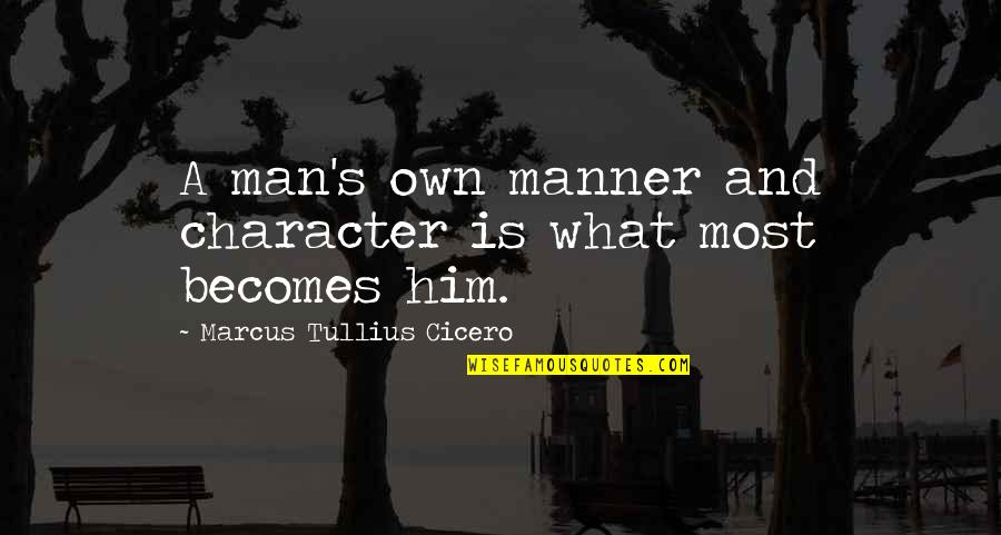 Loyalty In Beowulf Quotes By Marcus Tullius Cicero: A man's own manner and character is what