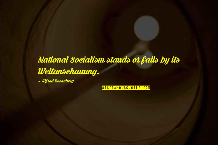 Loz Link Quotes By Alfred Rosenberg: National Socialism stands or falls by its Weltanschauung.