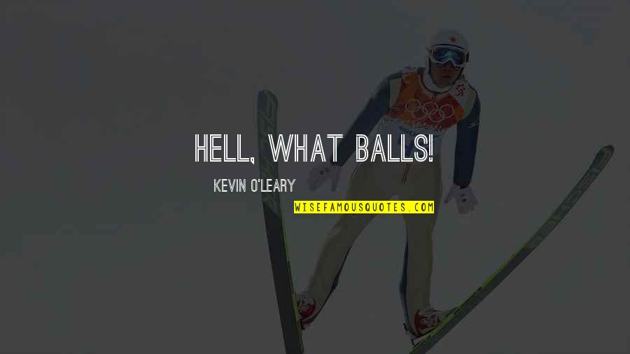 Ltte Leader Quotes By Kevin O'Leary: Hell, what balls!