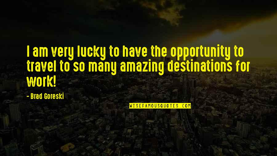 Lucky Quotes By Brad Goreski: I am very lucky to have the opportunity