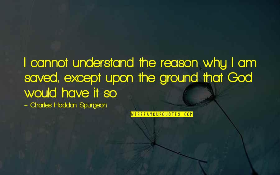 Lusaka Quotes By Charles Haddon Spurgeon: I cannot understand the reason why I am