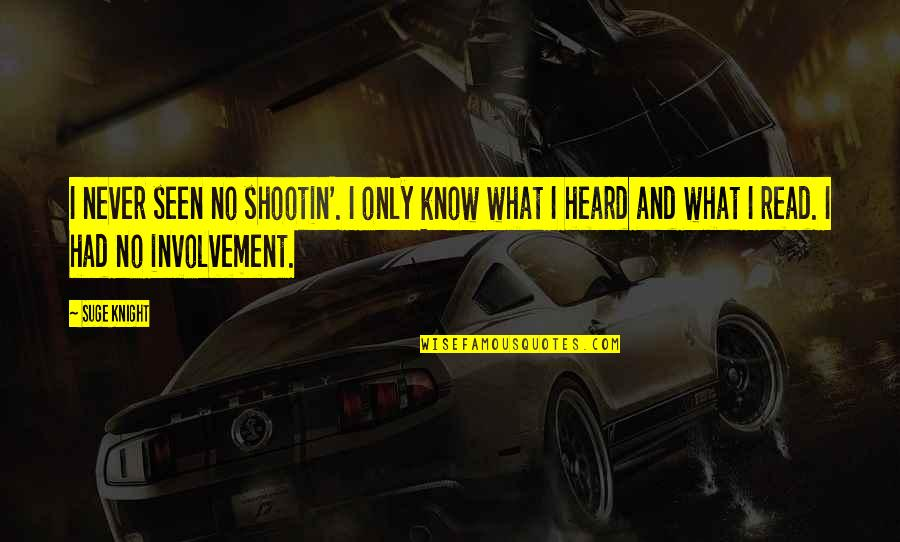 Lyx Smart Quotes By Suge Knight: I never seen no shootin'. I only know