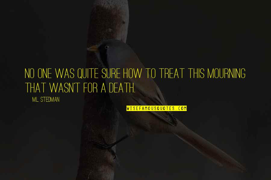 M.l. Stedman Quotes By M.L. Stedman: No one was quite sure how to treat