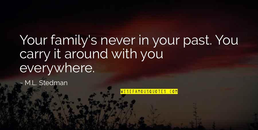 M.l. Stedman Quotes By M.L. Stedman: Your family's never in your past. You carry