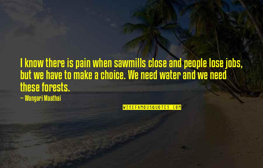 Mac Lethal Lyrics Quotes By Wangari Maathai: I know there is pain when sawmills close