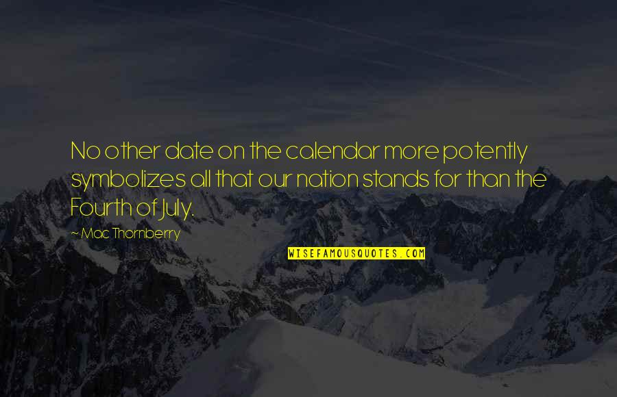 Mac Thornberry Quotes By Mac Thornberry: No other date on the calendar more potently