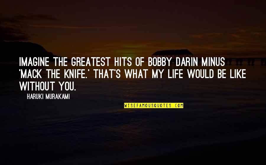 Mack Quotes By Haruki Murakami: Imagine The Greatest Hits of Bobby Darin minus