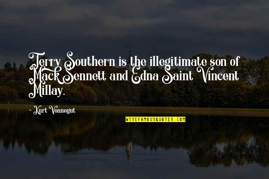 Mack Quotes By Kurt Vonnegut: Terry Southern is the illegitimate son of Mack