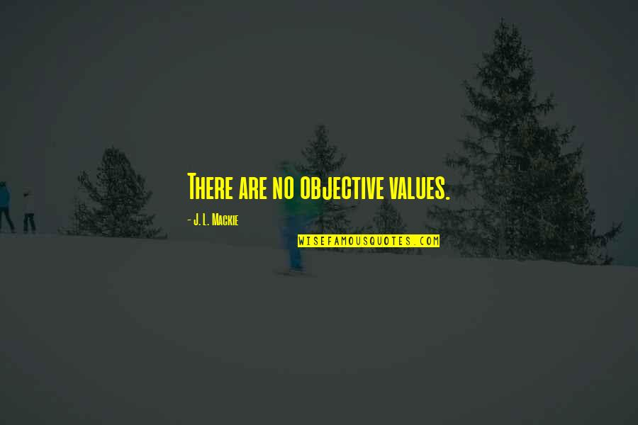 Mackie Quotes By J. L. Mackie: There are no objective values.