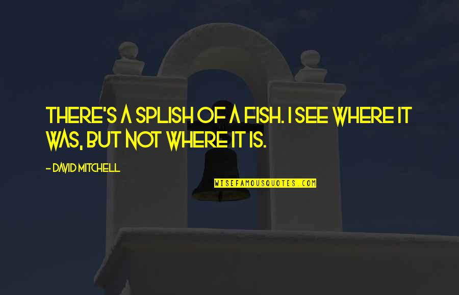 Mad At A Friend Quotes By David Mitchell: There's a splish of a fish. I see