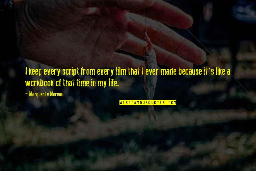 Made's Quotes By Marguerite Moreau: I keep every script from every film that
