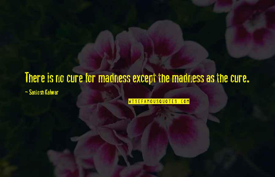 Madness And Civilization Quotes By Santosh Kalwar: There is no cure for madness except the