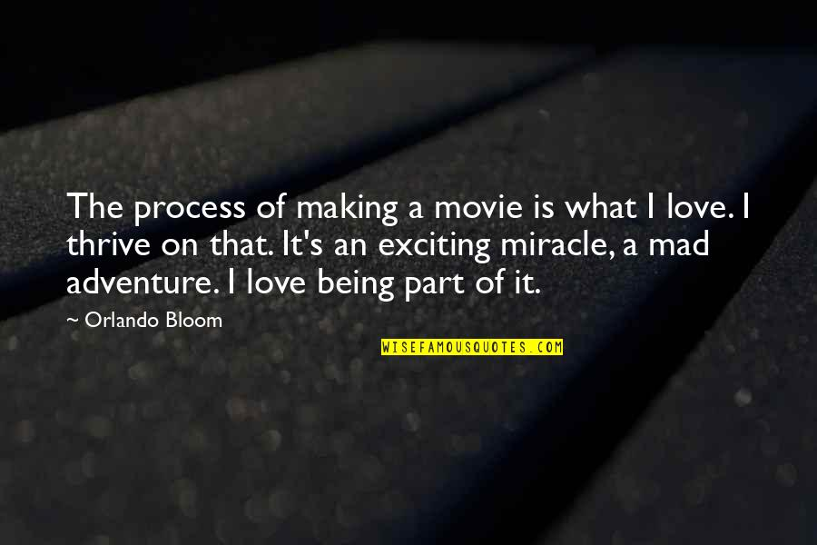 Mad's Quotes By Orlando Bloom: The process of making a movie is what