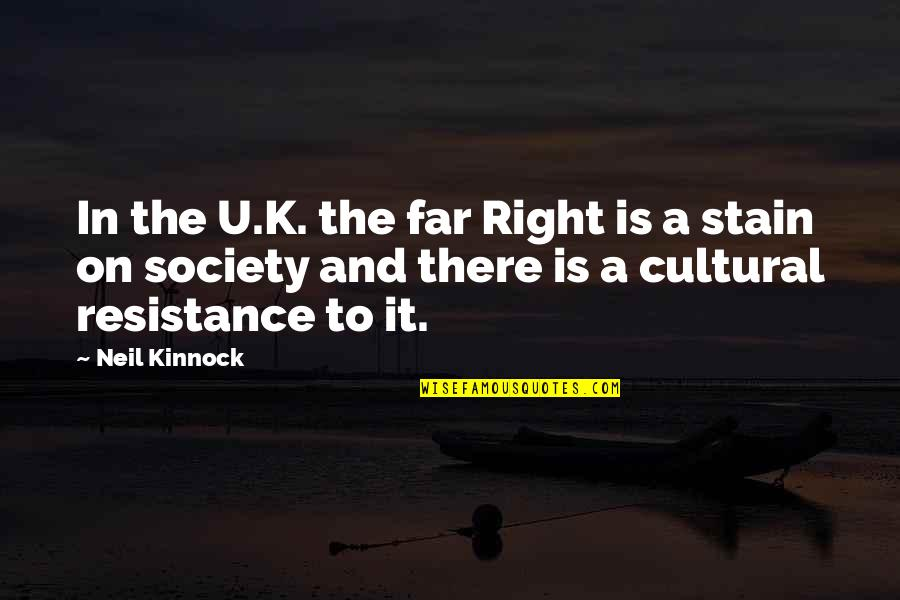 Mafi Wafa Quotes By Neil Kinnock: In the U.K. the far Right is a