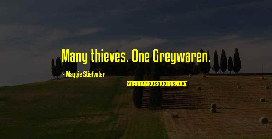 Maggie O'connell Quotes By Maggie Stiefvater: Many thieves. One Greywaren.