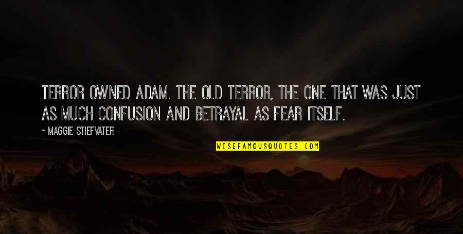 Maggie Stiefvater Quotes By Maggie Stiefvater: Terror owned Adam. The old terror, the one