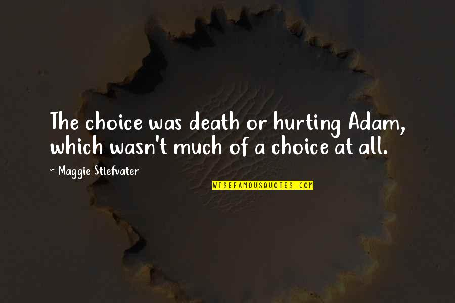 Maggie Stiefvater Quotes By Maggie Stiefvater: The choice was death or hurting Adam, which