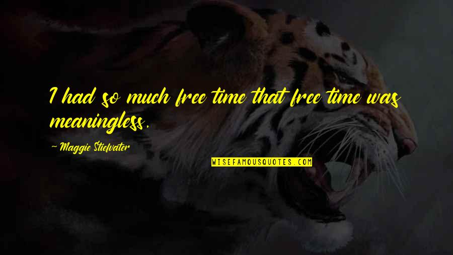 Maggie Stiefvater Quotes By Maggie Stiefvater: I had so much free time that free