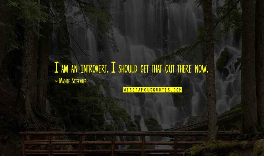Maggie Stiefvater Quotes By Maggie Stiefvater: I am an introvert. I should get that