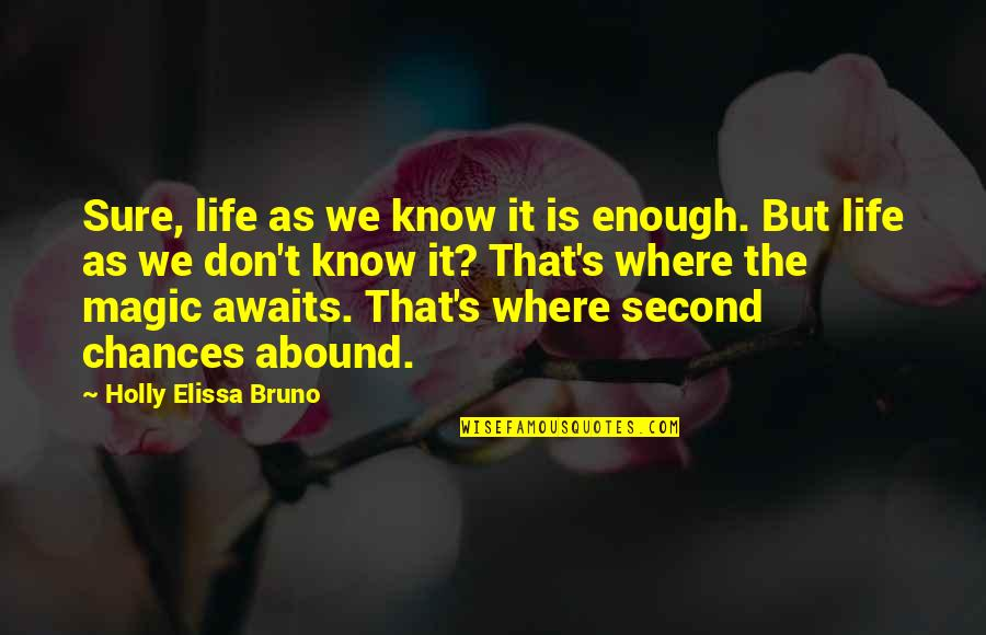 Magic's Quotes By Holly Elissa Bruno: Sure, life as we know it is enough.