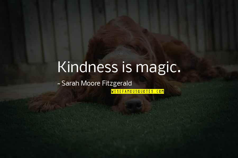 Magnets With Inspirational Quotes By Sarah Moore Fitzgerald: Kindness is magic.