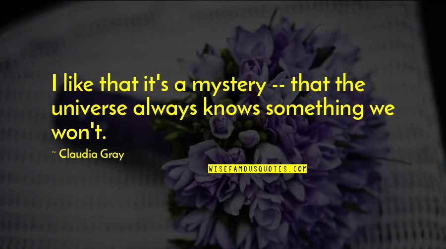 Mahal Na Araw Quotes By Claudia Gray: I like that it's a mystery -- that
