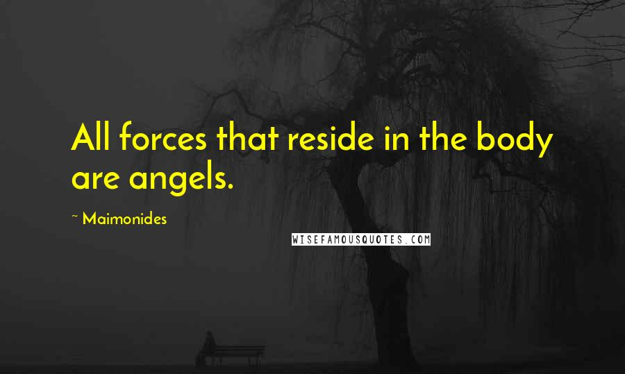 Maimonides quotes: All forces that reside in the body are angels.
