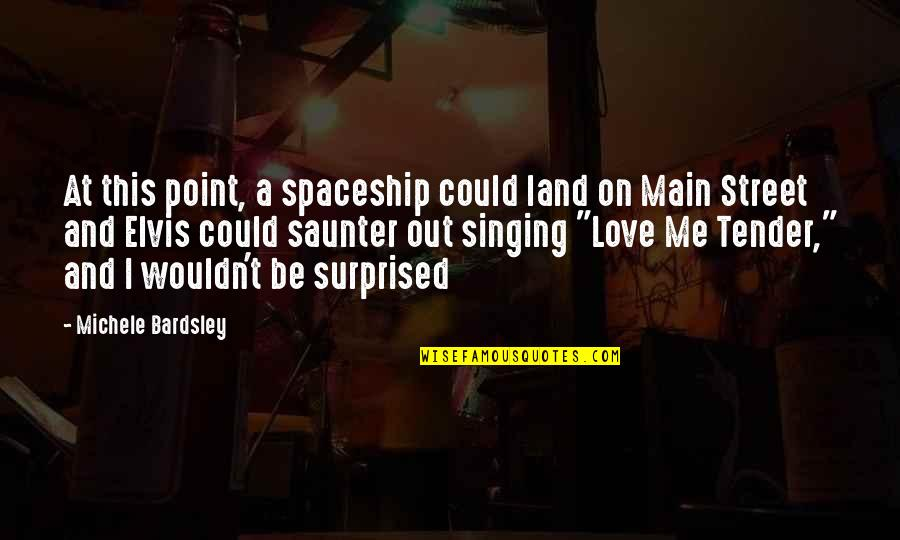 Main Street Quotes By Michele Bardsley: At this point, a spaceship could land on
