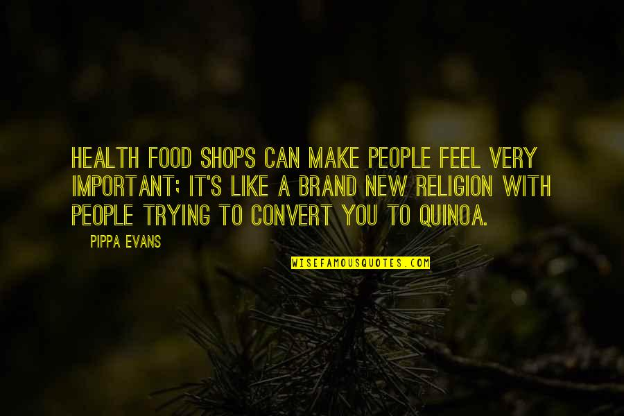 Make Like Quotes By Pippa Evans: Health food shops can make people feel very