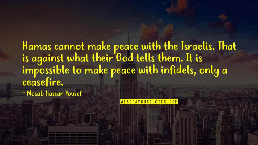 Make Peace With God Quotes By Mosab Hassan Yousef: Hamas cannot make peace with the Israelis. That