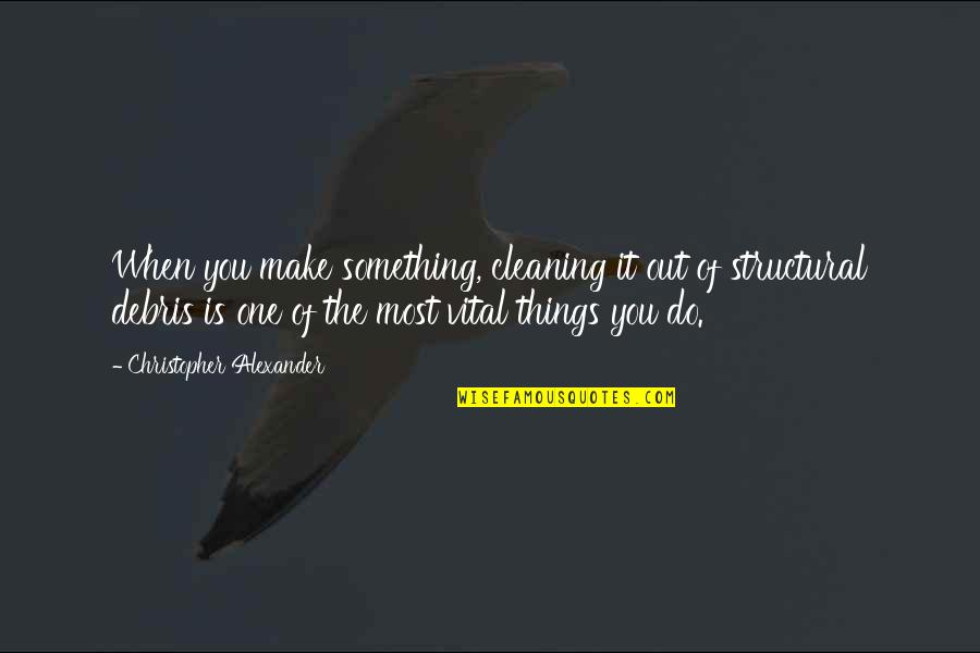Make The Most Out Of Quotes By Christopher Alexander: When you make something, cleaning it out of