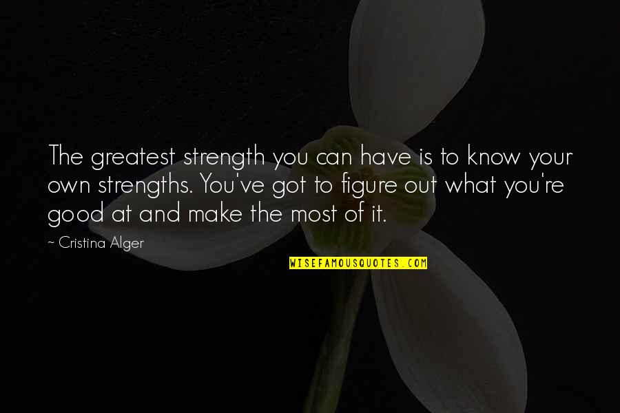 Make The Most Out Of Quotes By Cristina Alger: The greatest strength you can have is to