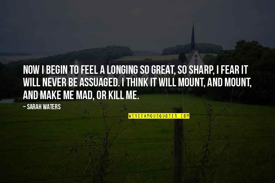 Make You Feel Great Quotes By Sarah Waters: Now i begin to feel a longing so