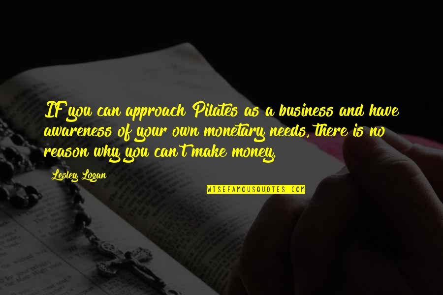 Make Your Money Quotes By Lesley Logan: IF you can approach Pilates as a business