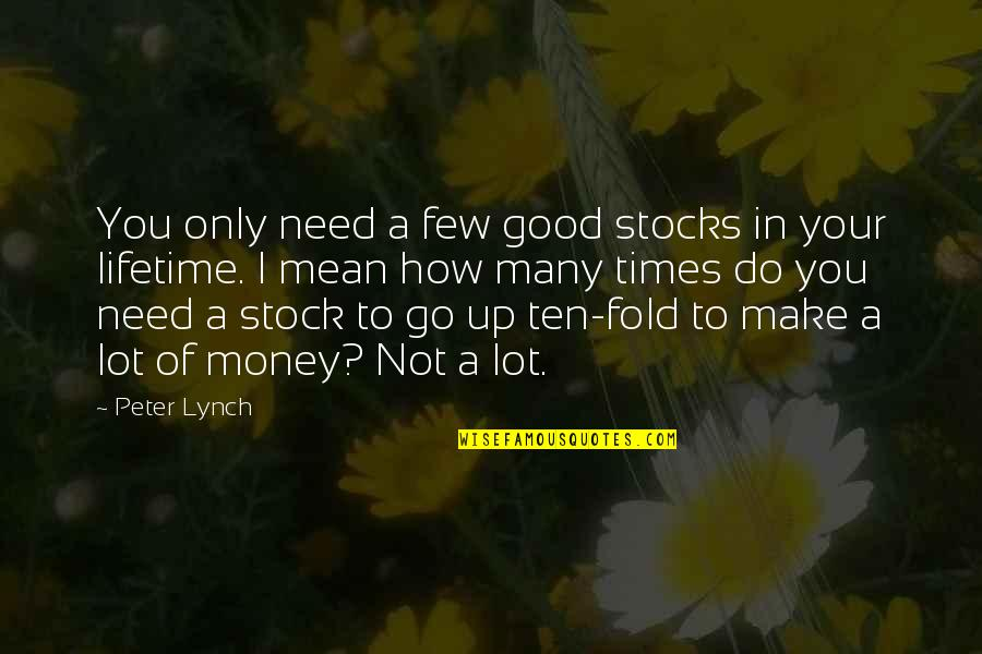 Make Your Money Quotes By Peter Lynch: You only need a few good stocks in