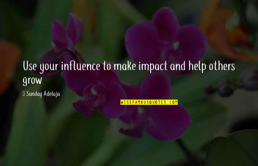 Make Your Money Quotes By Sunday Adelaja: Use your influence to make impact and help