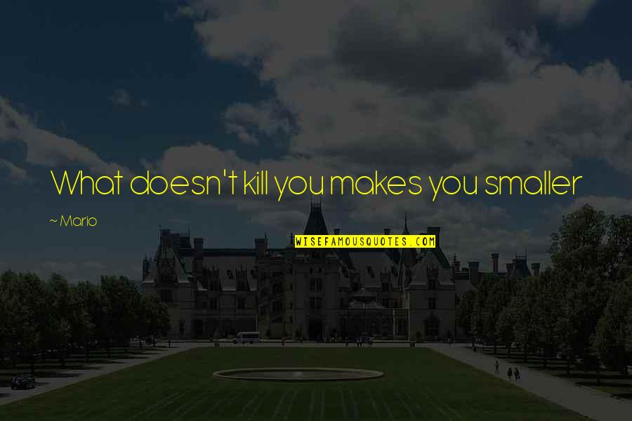 Makes You Stronger Quotes By Mario: What doesn't kill you makes you smaller